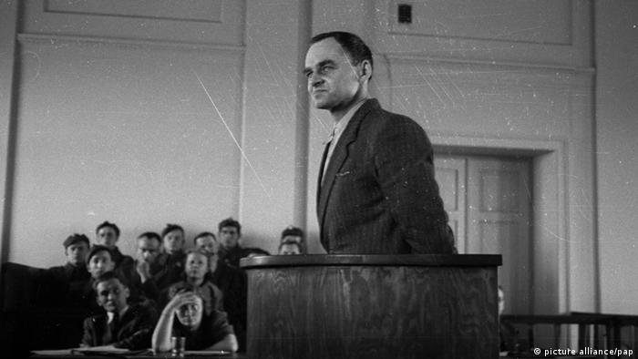 Witold Pilecki przed sądem w Warszawie 3 marca 1948 roku
