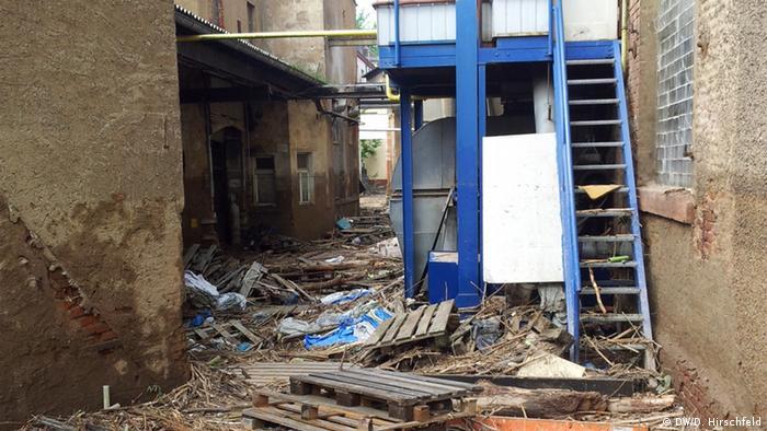 Последствия наводнения в Лунценау