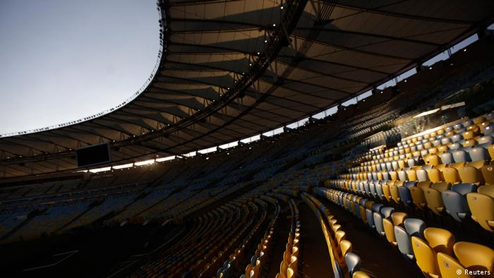 A general view of Maracana stadium during a media tour ahead the upcoming Confederations Cup in Rio de Janeiro June 7, 2013. REUTERS/Ricardo Moraes (BRAZIL - Tags: SPORT SOCCER)