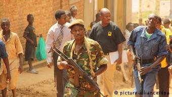 Soldat in Burundi