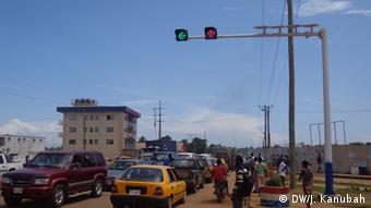 Newly installed traffic lights in Liberia's capital Monrovia Photo: Julius Kanubah/DW