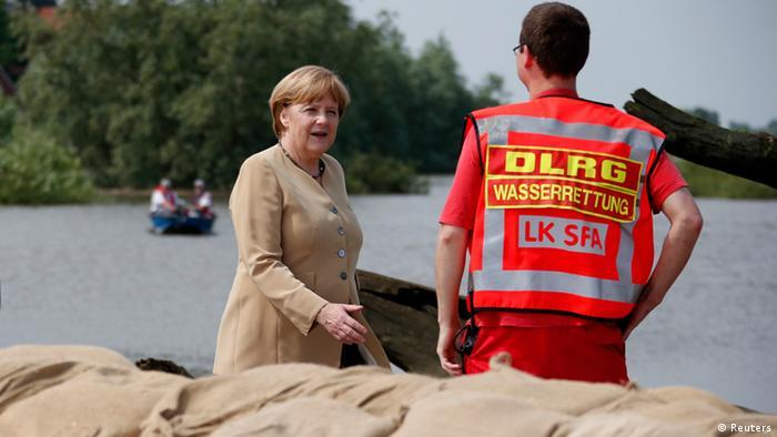 Ангела Меркель в районе, пострадавшем от наводнения