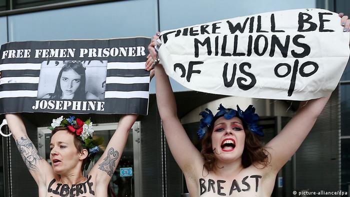 Акція Femen перед Європарламентом у Брюсселі