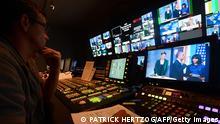 Frankreich Deutschland Fernsehsender Arte TV in Straßburg Studio