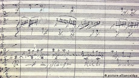 Ludwig van Beethoven Partitur mit dem Text Seid umschlungen