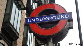 A London Underground sign in Westminster