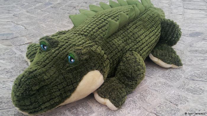 Literaturfestival Krokodil in Belgrad Maskottchen
