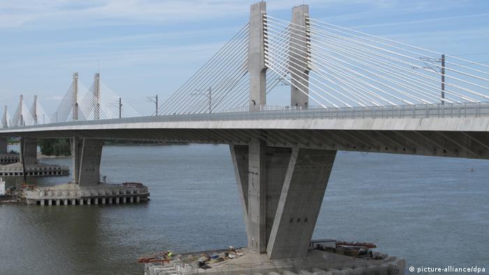 Neue Brücke über die Donau zwischen Bulgarien und Rumänien (picture-alliance/dpa)