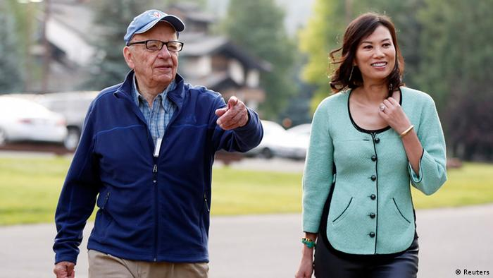 Bildergalerie Schiedung Murdoch und Deng (Reuters)