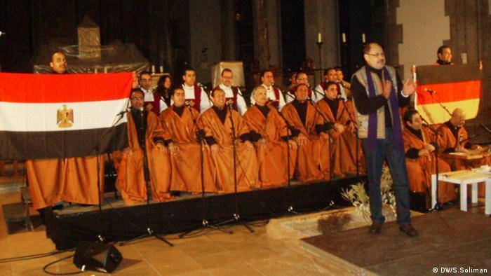 Thema: Samaa: Muslimisch –koptische Musik für den Frieden Foto-Titel: Samaa Ensemble mit Bandleader Intsar Abd Alftah Ort und Datum: München 2013 Copyright : DW/Soliman