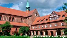 Innenhof, Kreuzgang, Zistersienserkloster, Lehnin, Brandenburg, Deutschland