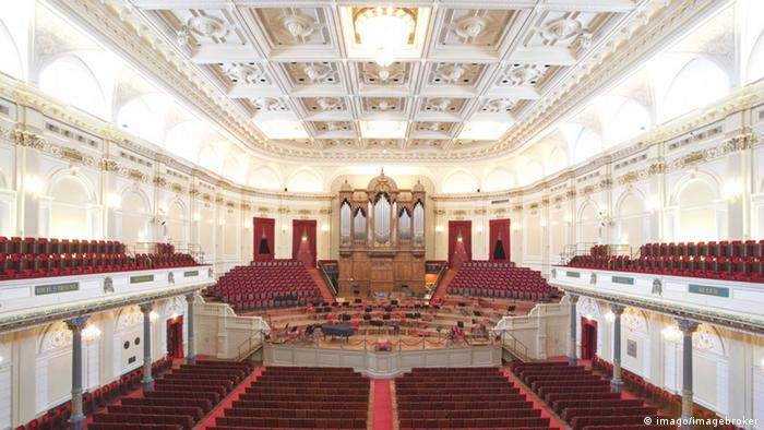 Interior of the Concertgebouw in Amsterdam