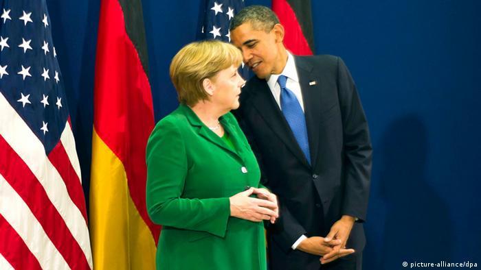 German Chancellor Angela Merkel and American President Barack Obama Photo: Guido Bergmann