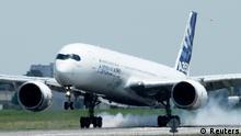 Airbus A350-XWB Erstflug Landung 14.06.2013