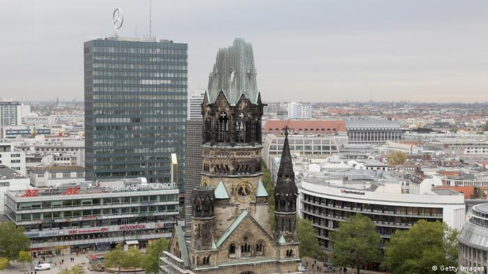 The Kaiser Wilhelm Memorial Church (Gedaechtniskirche) is pictured on October 22, 2010 in Berlin, Germany.