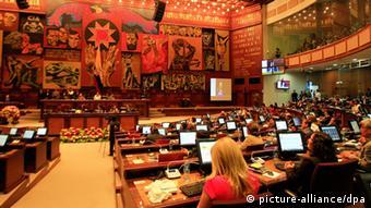 Tras casi cuatro años de debate, la Asamblea Nacional de Ecuador (foto archivo) aprobó la Ley de Comunicación.