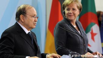 Angela Merkel mit Abdelaziz Bouteflika in Algerien