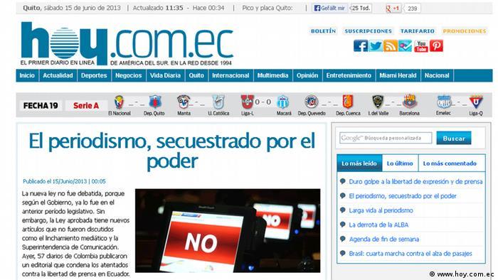 El Diario Hoy, de Ecuador.