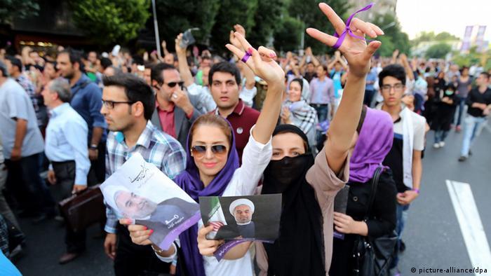 حامیان حسن روحانی در انتخابات ۹۲