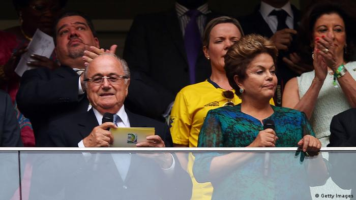 FIFA Confederations Cup Brazil 2013 Sepp Blatter Dilma Rousseff