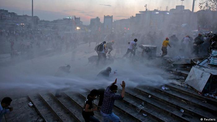Taksim Platz Gezi Park Istanbul Türkei Räumung