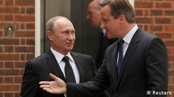 Cameron Putin Treffen in London