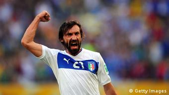 Andrea Pirlo of Italy celebrates scoring the opening goal during the FIFA Confederations Cup Brazil 2013 Group A match between Mexico and Italy at the Maracana Stadium on June 16, 2013 in Rio de Janeiro, Brazil. (Photo by Michael Regan/Getty Images)