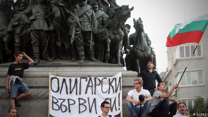 Antiregierungsprotest Sofia Bulgarien