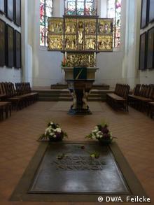 Bach está enterrado en la misma iglesia de Santo Tomás de Leipzig.