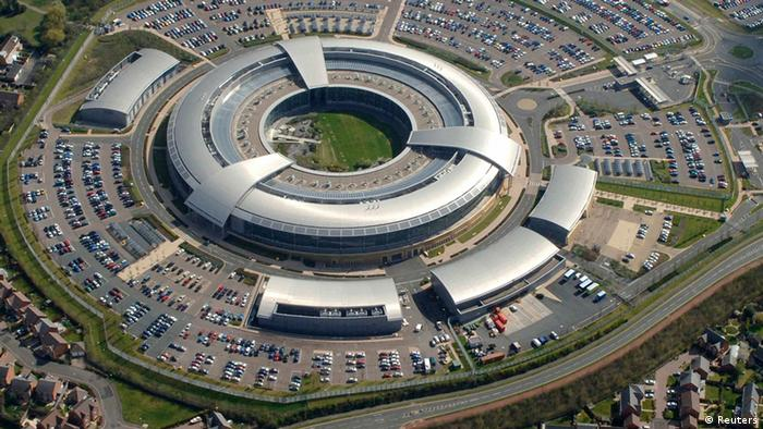Britain's Government Communications Headquarters (GCHQ) in Cheltenham is seen in this undated handout aerial photograph. The Guardian newspaper reported on June 7, 2013 that Britain's eavesdropping and security agency, GCHQ, had been secretly gathering intelligence from a secret programme involving the internet companies code-named PRISM and had had access to the system since at least June 2010. GCHQ said in an emailed statement to Reuters: Our work is carried out in accordance with a strict legal and policy framework which ensures that our activities are authorised, necessary and proportionate. Reuters/Handout (BRITAIN - Tags: MILITARY POLITICS BUSINESS TELECOMS) NO SALES. NO ARCHIVES. FOR EDITORIAL USE ONLY. NOT FOR SALE FOR MARKETING OR ADVERTISING CAMPAIGNS. THIS IMAGE HAS BEEN SUPPLIED BY A THIRD PARTY. IT IS DISTRIBUTED, EXACTLY AS RECEIVED BY REUTERS, AS A SERVICE TO CLIENTS