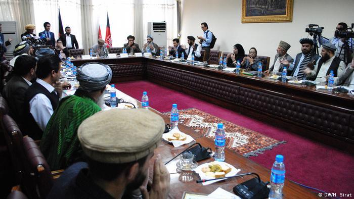 It shows the head of local governmental councils in Afghanistan, gathering in Kabul. Hussain Sirat, DW-Reporter has taken this photo on 17.06.2013. All rights reserved for DW.