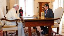 Papst Franziskus und Nicolas Maduro 17.06.2013