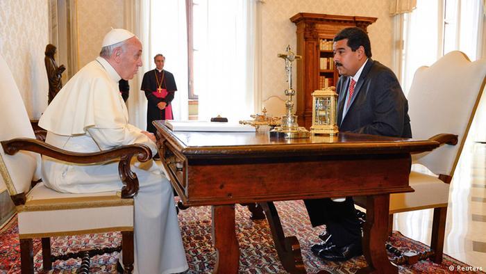 Papst Franziskus und Nicolas Maduro 17.06.2013 (Reuters)