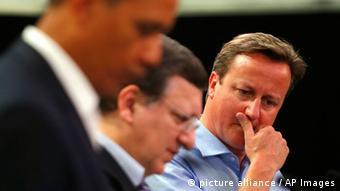 G 8 Treffen in Nordirland Cameron Barroso Obama