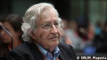 Auf dem Bild: Noam Chomsky beim Global Media Forum 2013. 17.6.2013, Bonn. Bild: © DW/M. Magunia