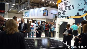 Participants at the Intersolar exhibition in Munich (Photo: Gero Rueter)