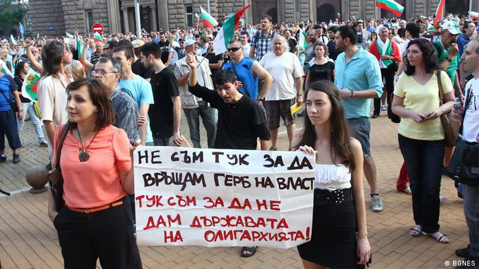 Bulgarien Proteste in Bulgarien gegen die neue Regierung
