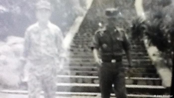 A grainy picture shows Ahn Hak-soo dressed as a sodlier