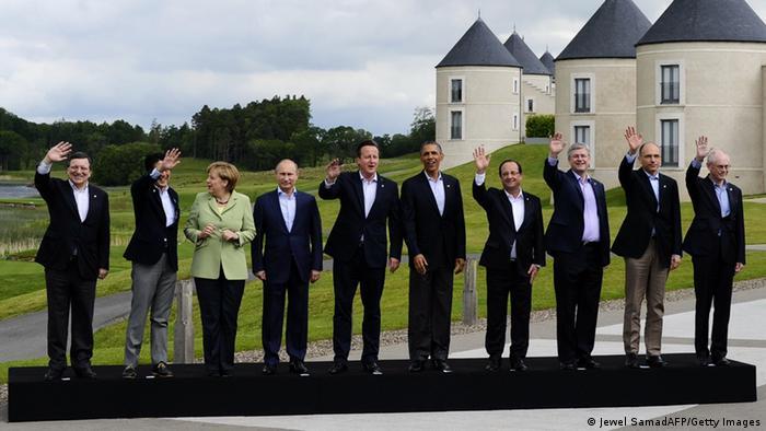 عکس دستهجمعی سران گروه هشت در تابستان ۲۰۱۳ در ایرلند شمالی