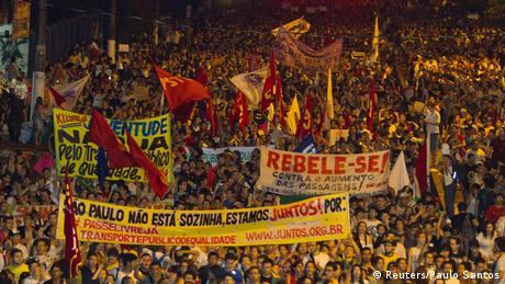 Protesto na cidade de Belém do Pará