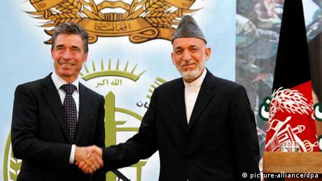 Afghanistan Karsai und Rasmussen in Kabul 18.06.2013