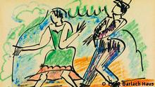 Postkarte Brücke-Künstler Expressionisten Max
