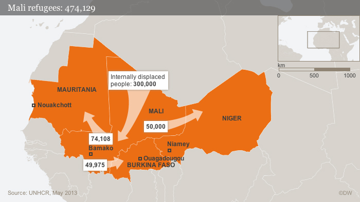 Infographic: Refugees from Mali Olof Pock Datum 18.06.2013