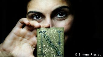 34-year-old Negar Azhar Azari studied etching and jewelry making for nine years before opening her own gallery and workshop. (Photo by Simone Pierroti)