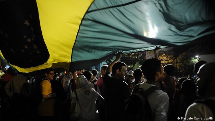 Manifestantes no Rio de Janeiro em junho de 2013