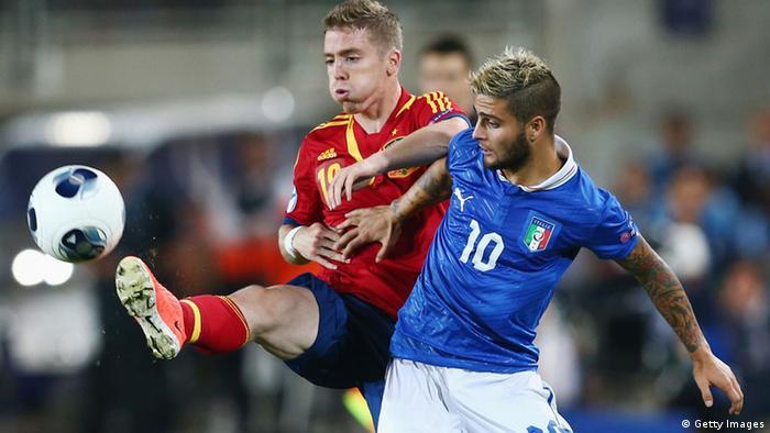 Інсіньє у матчі проти Іспанії