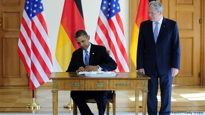 Obama in Berlin mit Gauck (Foto: AFP/Getty Images)