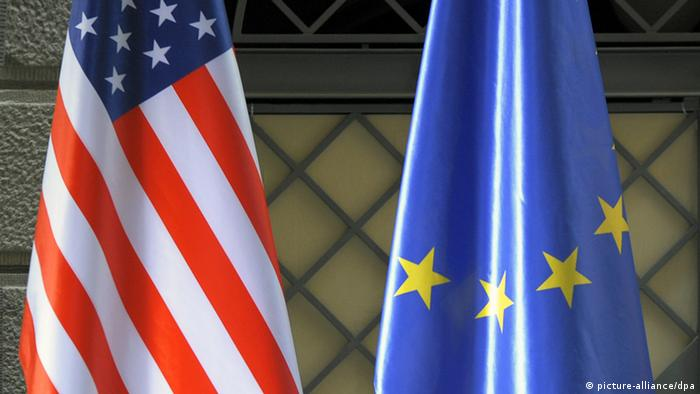 US and European flags (Photo: Foto: Soeren Stache dpa/lsn)