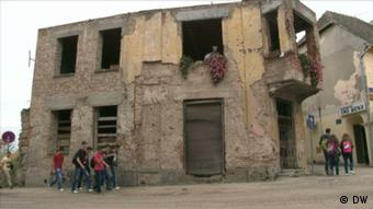A bombed house in tehe Croatian city of Vukovar (Foto: DW)
