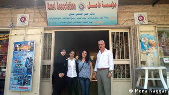 Syrian refugees in Lebanon. Here is Ali Baqi and his employees, nurses at the Amel Association. Copyright: Mona Naggar